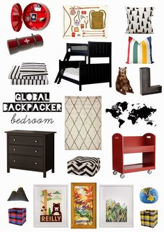 Global Backpacker kid's room @OleanderandPalm