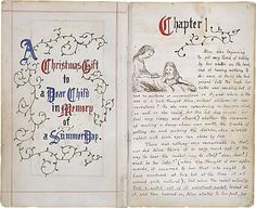 The British Library has an amazing collection of digitized rare manuscripts--including this additional adventure of Alice's.