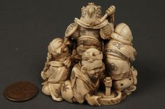 Top quality japanese ivory carving - red seal - meji period - call Danilo 0039 335 6815268