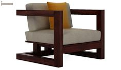 Skyler Wooden Sofa Sets (Mahogany Finish)-4