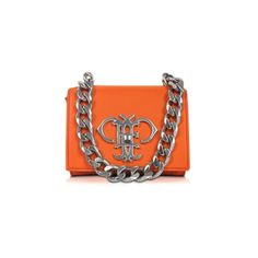 Emilio Pucci Handbags Orange Leather Shoulder Bag ($855) ❤ liked on Polyvore featuring bags, handbags, shoulder bags, bolsa, orange, leather purse, mini shoulder bag, leather shoulder handbags, purse shoulder bag and shoulder strap purses