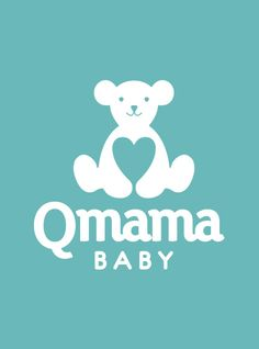 Logo Qmama Baby - Designed by Alexandre Fontes. Redesign for brand of babies costumes, clothes, bed & stuff. This solutions is a cuttie bear with heart in you middle. A hug in the love. #bear #logo #design #identity #branding #mon #baby