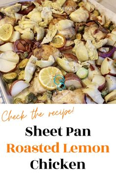 Pan roasted lemon chicken and potatoes recipe. Perfect quick family meal that only takes a few minutes to prepare. Get the full recipe on the blog #ozofsalt #familymealplanning #easymeals #familydinner #dinnerrecipes #healthyfood #cooking Healthy Dinner Recipes, Delicious Recipes, Great Recipes, Family Meal Planning, Family Meals, Lemon Chicken And Potatoes Recipe, Easy One Pot Meals, How To Squeeze Lemons, Roasting Pan