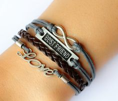 Love Bracelet / Infinity Bracelet / Best Friend by Especially2U, $7.50