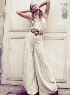 Be Fra  Stylist: Marion Guiot, white on white high key fashion