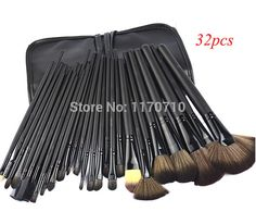 Top Quality Synthetic Hair 32pcs Makeup Brushes Professional Makeup Brush Set Including a Deluxe Pu Bag!
