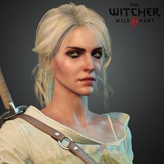 Ciri face I did for The Witcher Lowpoly hair was created by Bill Daly. Outfit was created by Marcin Błaszczak. I was also responsible together with Patryk Brzozowski for creating facial mimic pipeline for dialogs and cutscenes. The Witcher Geralt, Witcher Art, The Witcher Game, Witcher 3 Wild Hunt, Fantasy Characters, Female Characters, Overwatch, Face Topology, Witcher Wallpaper