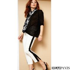 Your dream pants,Lisette L Pants flatten and flatter.They slim the abs,contours the hips and shape the behind. Wrinkle-free fabrics with genius construction Flatter Stomach, Ankle Pants, Legs Open, Thighs, Capri Pants, Slim, Clothes For Women, Celebrities, Spring