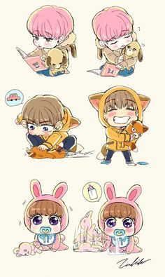 What Tae and Kookie are doing to the poor stuffed animals
