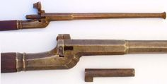 Arquebus from late 15thc Southern Germany. One of the first breech loading personal firearms.