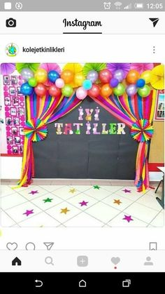 50 Awesome Spring Crafts for Kids Ideas Class Decoration, School Decorations, Balloon Decorations, Birthday Party Decorations, Birthday Parties, Diy And Crafts, Paper Crafts, Spring Crafts For Kids, Rainbow Birthday