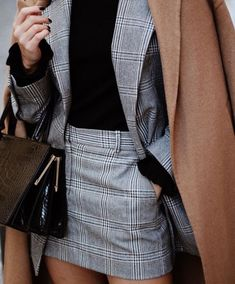 How to Wear: The Best Casual Outfit Ideas - Fashion Mode Outfits, Skirt Outfits, Casual Outfits, Fashion Outfits, Casual Blazer, Blazer Suit, Suit Jacket, Skirt Fashion, Fall Outfits