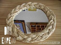DIY Espejo con cuerda trenzada