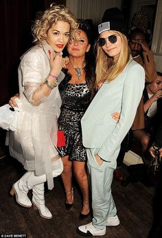 Rita Ora and Cara Delevingne also attended Fran's party in May of last year getting dresse...
