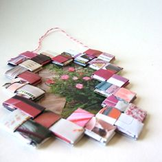 Eco Pink Frame Made With Reclaimed Paper by LaAlicia on Etsy