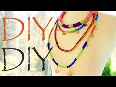DIY Colorblock Rope Necklaces - Ethnic Inspired Fashion (I would rather make these into bracelets)