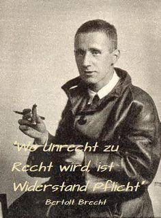 Bertolt Brecht Politik faldche Toleranz