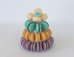 Macaron Bell- Vanilla, Salted Caramel, Apple Cinnamon & Lavender. Macaron lovers rejoice! A perfect addition to any gathering or party. Macaron towers catered to different sizes and flavours are up to you to choose. Shop online at www.passiontreevelvet.com.au