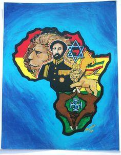 Africa Painting Ethiopian Emperor Haile Selassie by Ilive2loveJAH, $15.00