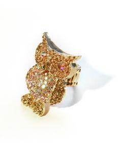 @Lauren Terry...maybe a little too flashy....Rhinestone Owl Ring