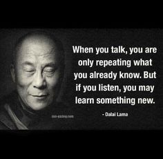 ...listen and learn