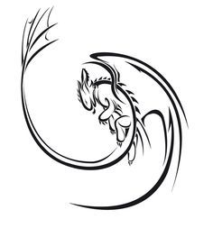 Nightfury blason by ~Saki-BlackWing on deviantART I don't usually like the whole tribal style, but this is beautiful Body Art Tattoos, Cool Tattoos, Small Tattoos, Tattoo Ink, Arm Tattoo, Sleeve Tattoos, Dragons Dreamworks, Toothless Tattoo, Totenkopf Tattoo