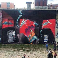 "318 curtidas, 2 comentários - @tschelovek_graffiti no Instagram: ""@bert_end2end + @DYSET + #LOOMIT in Munich, Germany. #bertend2end #bert #dyset #loomit…"""
