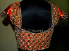 Heavy Jardhosi and Crystal Work Blouse for designer saree..