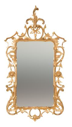 Chippendale Giltwood Rococo Mirror Custom Mirrors, Vintage Mirrors, Mirror Plates, Mirror Mirror, Rococo Style, Decorative Objects, Chinoiserie, Antique Furniture, Antiques