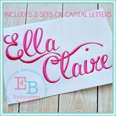 Ella Claire Alphabet from Embroidery Boutique