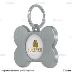iApple Gold Forever Pet ID Tag
