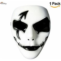 Buy Unisex Cosplay Holidays Halloween Horrible Full Face Cover Scary Face Mask Masks at Wish - Shopping Made Fun Skin Halloween, Mascaras Halloween, Halloween Masquerade, Masquerade Costumes, Halloween Cosplay, Holidays Halloween, Cool Masks, Best Masks, Mask Paper