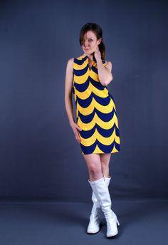 Vintage 1960s Marimekko Mod Laine Dress Suomi Finland Annika Rimala