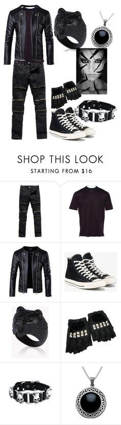 """""""project"""" by blackslovokia ❤ liked on Polyvore featuring Lanvin, Converse, Dsquared2, Rodarte, Bling Jewelry, Carolina Glamour Collection, men's fashion and menswear"""