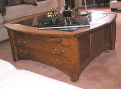 seashell display table | display coffee table | shells | pinterest