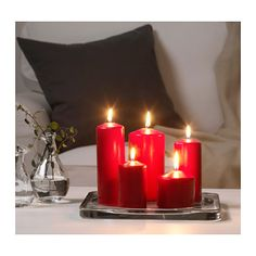 FENOMEN Unscented block candle, set of 5  - IKEA