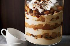 Torre de cheesecake con pera y caramelo - http://www.cocinatipo.com/recetas/postres/torre-de-cheesecake-con-pera-y-caramelo cheesecake, peras y caramelo, postre en capas