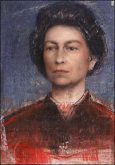 Pietro Annigoni 1969 Queen  elizabeth britain painting art