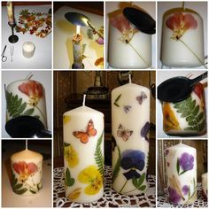 DIY Dried Flowers Decorated Candles  https://www.facebook.com/icreativeideas