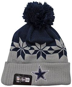 Dallas Cowboys New Era Wintry Cuff Knit Beanie Hat   Cap  Show off your  support d4f4d58c6
