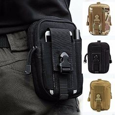 CAMTOA Multi-Purpose Poly Tool Holder EDC Pouch Camo Bag Military Nylon Utility Tactical Waist Pack Camping Hiking Pouch Black. For product & price info go to:  https://all4hiking.com/products/camtoa-multi-purpose-poly-tool-holder-edc-pouch-camo-bag-military-nylon-utility-tactical-waist-pack-camping-hiking-pouch-black/