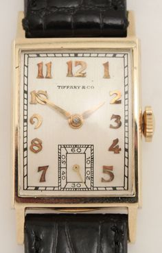 tiffany co. mens vintage watch. so cool. - for adam (i wish...)