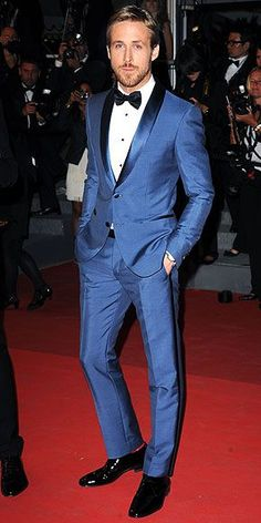 Ryan Gosling at Cannes. Shop for your wedding, with a personal shopper & stylist in India - Bridelan, visit our website www.bridelan.com #Bridelan #Indiangroom