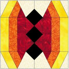Stained Glass ... by FeverishQuilter | Quilting Pattern - Looking for your next project? You're going to love Stained Glass Butterfly Quilt Block by designer FeverishQuilter. - via @Craftsy