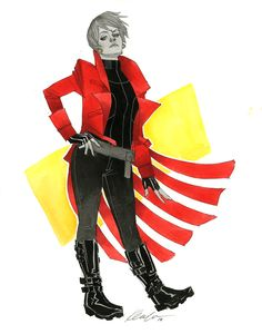 "kevinwada: "" Rachel Summers Wizard World Austin 2014 sketch A redesign of sorts. Just barely ;) """