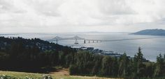 one can see the tip of WA state in the pic.  the bridge leads from Astoria, OR state to WA state.   the city of Long Beach, WA lies over in WA nearby.   1997