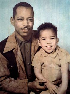 Jimi as a kid with his dad Al...Always a smiley child!