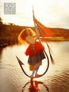 """Imaginary Fantastic Bizarre"" | Model: Lily Cole, Photographer: Tim Walker, Vogue Italia, July 2005"
