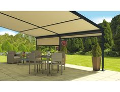 Installer un store fixe de terrasse Terraclim offre la possibilité de créer un espace supplémentaire dans son jardin ! #Store #StoristesDeFrance #Maison #Terrasse Pergola, Gazebo, Design Patio, Outdoor Seating, Outdoor Decor, Lounge, Outdoor Gardens, Outdoor Structures, Recherche Google