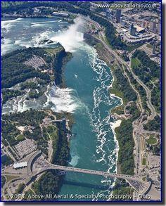 Aerial photo of Niagara Falls